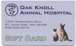 oak knoll animal hospital gift cards